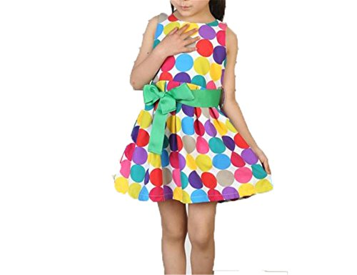 Doris Batchelor Elegant Baby Girl Beach Dress Summer Sleeveless Polka Dot A-Line Kids Dresses Infantil Kids Girls Costumes NO1 -