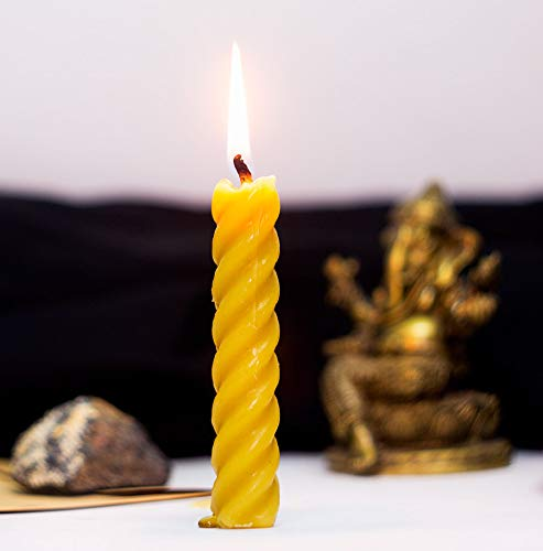 (Spell Candle - Removing Obstacles/Road Opener - Votive Beeswax Candles Blessed by Monks from Isolated Monastery )