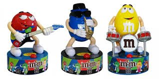 M&M's Complete Three Piece Rock Stars Band Candy Dispensers by M&M's