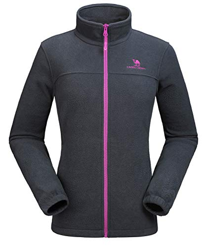 CAMEL CROWN Women Full Zip Fleece Jackets with Pockets Soft Polar Fleece Coat Jacket Sweater for Spring Outdoor Grey - Fleece Jacket Zipper