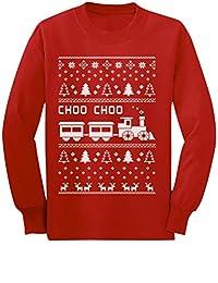 Choo Choo Train Children's Ugly Christmas Sweater Cute Long sleeve kids T-Shirt
