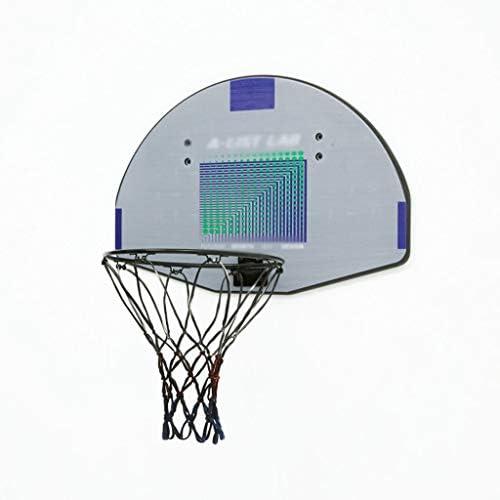 ティーンエイジャーのためのバスケットボールフープ、ホームレスパンチングバスケットボールフープ、屋内と屋外の子供のバスケットボールネット、ファミリー親子活動を壁掛け (Color : Gray, Size : 41*61cm)