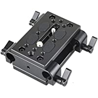 SmallRig Camera Mounting Plate Tripod Mounting Plate with 15mm Rod Clamp Railblock for Rod Support / Dslr Rig Cage - 1798