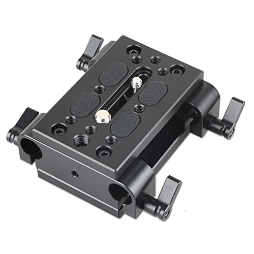 SmallRig Camera Tripod Mounting Baseplate w/15mm Rod Clamp Rail block for Tripod/Shoulder Support System - 1798 by SmallRig