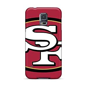 Samsung Galaxy S5 BZx13617LRkF Custom High-definition San Francisco 49ers Image Shock Absorbent Cell-phone Hard Covers -MarcClements