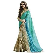 JHTEX FASHION Indian Women's Designer Fancy Georgette Saree