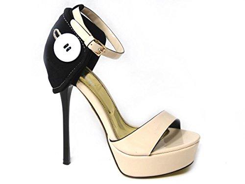 SKO'S Ladies Womens Low Mid High Heel Ankle Strap Slip On Court Shoes Pumps Sandals Size Beige (058-f8) sPBEe