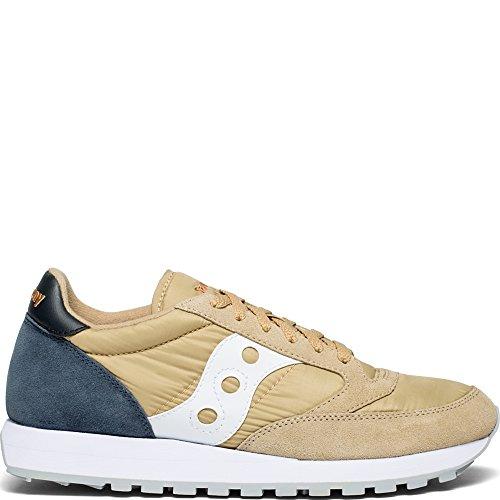 (Saucony Originals Men's Jazz Original Sneaker, tan/Navy, 11 M US)