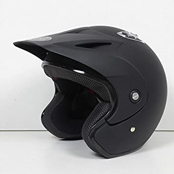 Casco Moto Trial Quad Doug Uni negro mate