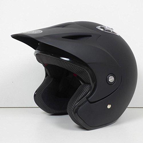 Casque moto trial Quad Doug uni Noir mat Taille XL