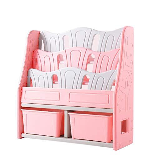 Jcnfa-Shelves Children's Shelves Heavy Bookcase Multi-Function Locker Toy Storage Rack Combination Bookcase Splicing Design (Color : Pink 2, Size : 39.5613.7739.56in)