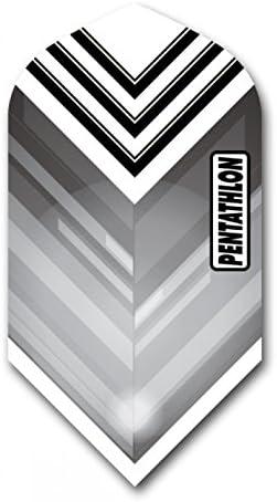 US Darts 3セット (9フライト) ペンタスロン スリム ブラック エクスタフ ダーツ フライト 100ミクロン