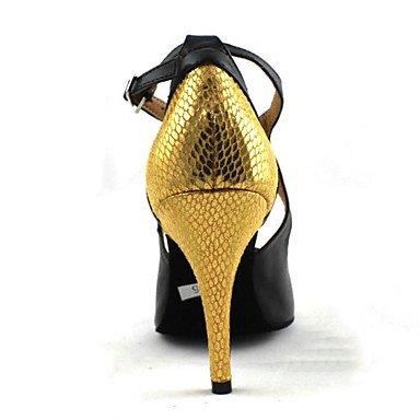 Scarpe da ballo-Personalizzabile-Da donna-Balli latino-americani / Jazz / Sneakers da danza moderna / Moderno-Quadrato-Finta pelle- nude