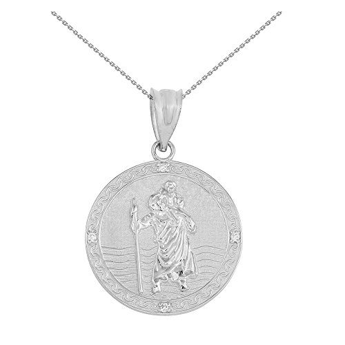 10k gold st christopher medal - 7