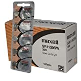 100 pc Maxell SR1130SW SR54 390 V390 Silver Oxide Watch Battery