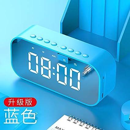 LTOOD Música Despertador Creativo Estudiante silencioso Junto a la Cama Luminoso Digital Reloj Despertador Infantil Reloj