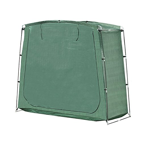 ALEKO SS70GR Portable Pop Up Bike Tent Bicycle Storage Shed Weather Resistant Protection Outdoor with Carrying Case 70 X 64 X 30 Inches Green by ALEKO