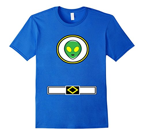 Alien Themed Costumes (Mens Fun Alien Costume Shirt Halloween Not From This World Party XL Royal Blue)