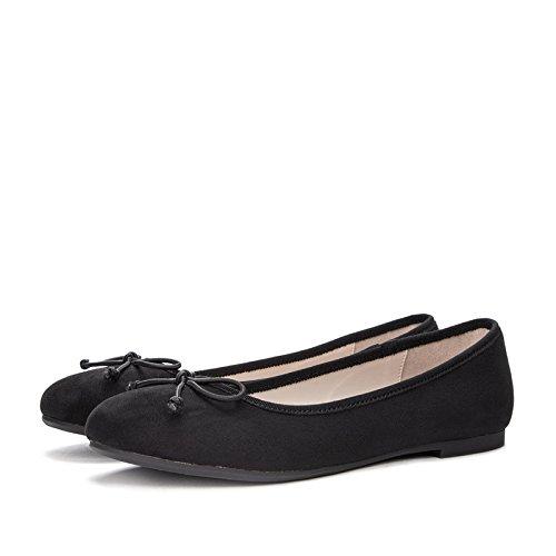 Zapatos negro Planos 35 Sandalias Señoras Frescas Señoras Dhg Pequeños De Primavera Casuales Redondas R1q1dfFw