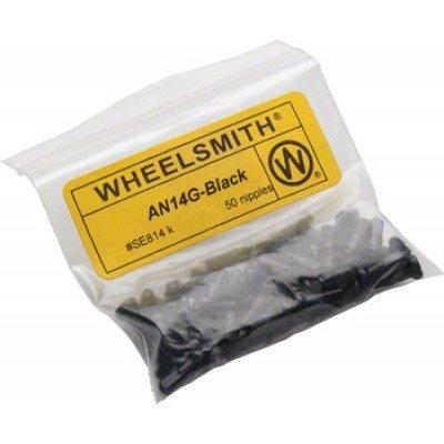 (Wheelsmith 2.0 x 12mm Black Alloy Nipples, Bag of 50)