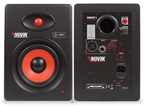 NOVIK NEO Concert 5 Near Field SELF-Powered Studio Monitor 90 Watts Kevlar Woofer, for Mixing, Mastering and Recording, 1 Piece