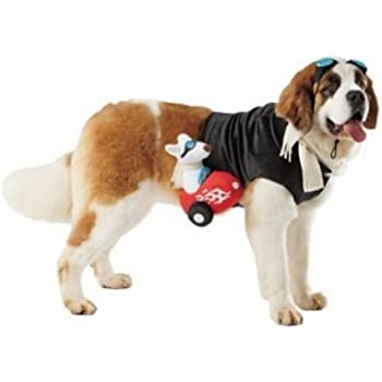 Dog Sidecar Rider Costume Pet Rider Large 25-50 Pounds  sc 1 st  Amazon.com & Amazon.com : Petco Halloween Racecar Dog Costume Large : Pet Supplies
