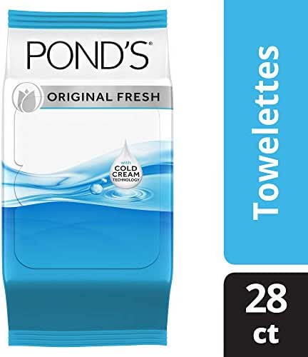 Pond's MoistureClean Original Fresh Towelette 28 count,pack of 4