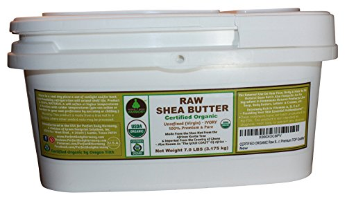 Cheap Unrefined Raw Shea Butter; Certified Organic; 7.0 LB BULK TUB; DIY Ingredient For Lotions, Soaps, Baby, Skin, Hair Products; Non-comedogenic Face & Body Moisturizer; Premium, African Ivory Tan