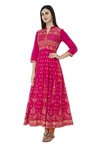 5884996dbc SABHYATA Womens Kurta Ethnic Indian Kurtis Women Casual Tunic Kurti Tops  Long Dress