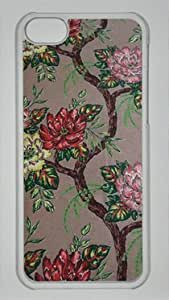 The Beauty of the Peony DIY Hard Shell Transparent iphone 5C Case Perfect By Custom Service