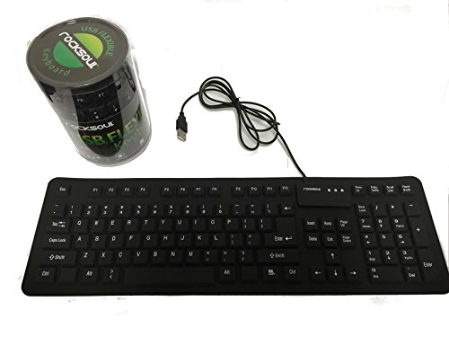 - ROCKSOUL Flexible Keyboard Slim Water & Dust Proof (KB-101F106B)