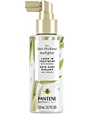 Pantene Nutrient Blends Bamboo Hair Volumizer Thickness Multiplier Leave In Treatment, 110 Ml