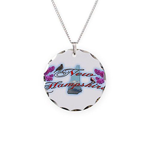CafePress - New Hampshire - Charm Necklace with Round Pendant