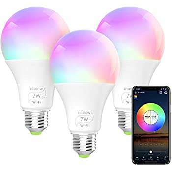 Smart WiFi Light Bulb, LED RGB Color Changing, Compatible