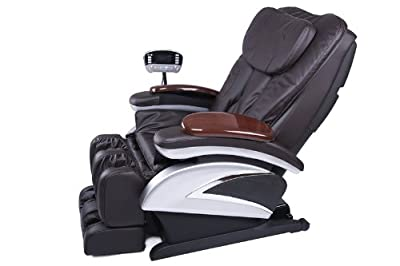 Electric Full Body Shiatsu Brown Massage Chair Recliner Stretched Foot Rest 06C