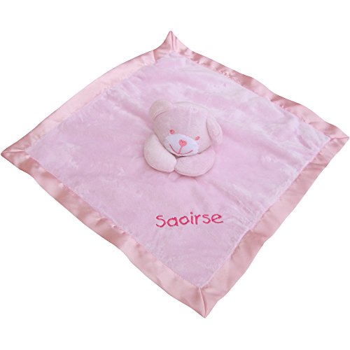 Baby Super Soft Personalised Comforter Blanket with 3D Teddy Bear (Pink)
