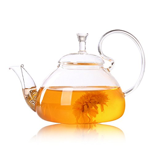 Majinz Store Coffee Pots Heat Resistant Bottle Cup Glass Teapot Tea Leaf Herbal Coffee Pot