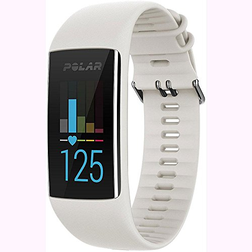 Polar A370 Waterproof GPS Fitness Tracker with Wrist Based HR - White / Small w/ Cinch Travel Bag by Polar (Image #1)