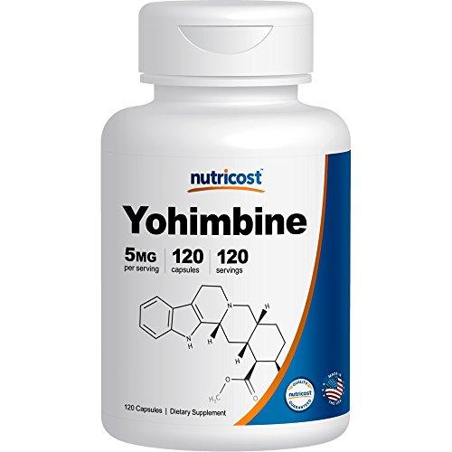 Nutricost Yohimbine HCl 5mg, 120 Capsules Extra Strength - Yohimbe Bark Extract