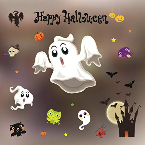 Vacally Happy Halloween Cartoon Bone Pumpkin Wall Static