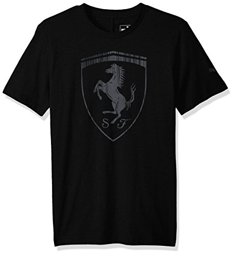PUMA Men's Ferrari Big Shield T-Shirt, Black, L