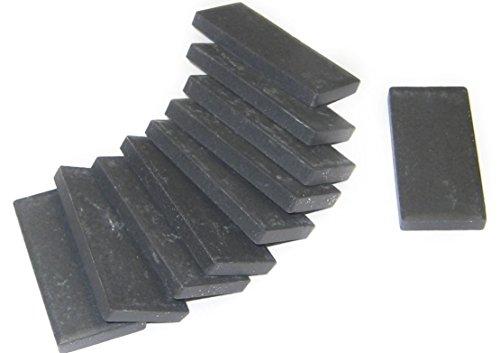 Unglazed Porcelain Tile - Streak Plates - Black, 10 pk