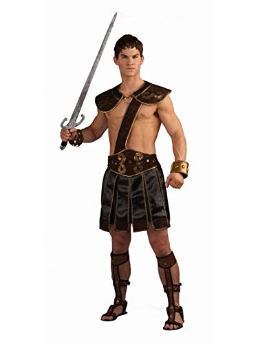 Forum Roman Gladiator Adult Costume, Brown, Standard -