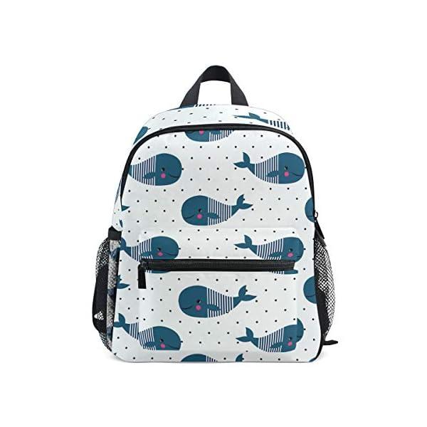 Whale Ocean - Zaino per la scuola per bambini e ragazze per bambini da 3 a 8 anni 1 spesavip