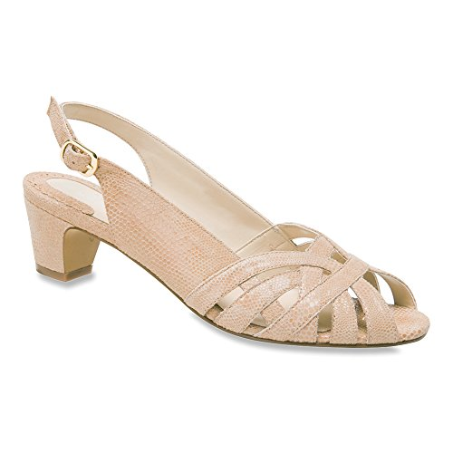 Ros Hommerson Donne Pam Peep-toe Slingback Sandali Stampa Lucertola Nudo
