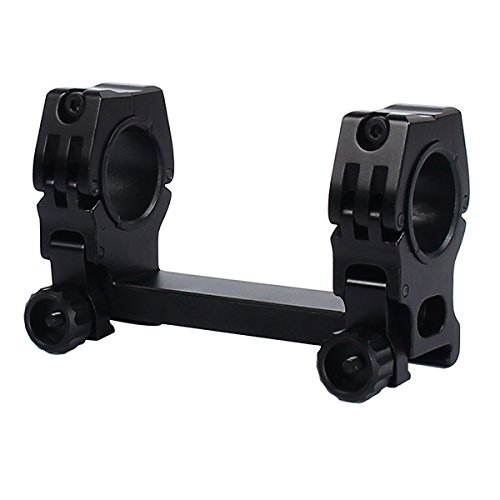 TargetEvo Aluminum Hunting Scope Mount Ring for 1 inch / 25-30 mm Rail with Bubble Level Universal