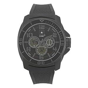 U.S. Army Wrist Armor Men's 37200006 C24 Stealth Analog-Digital Black Silicone Watch