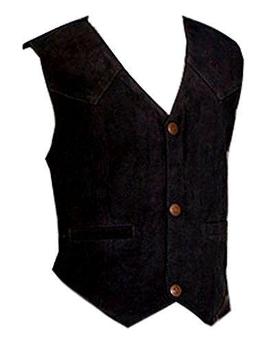 Scully Boys' Boar Suede Vest Black Small -
