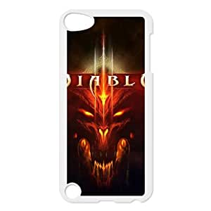 Popular And Durable Designed TPU Case with Diablo Diablo For iPod Touch 5 Cell Phone Case White