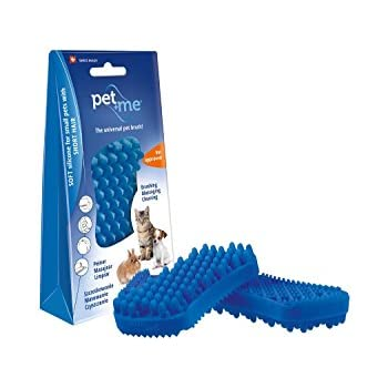 Pet + Me Multifunctional Grooming Brush Short Hair Cat, Blue